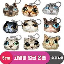 [PO]5cm 고양이 얼굴 폰줄<12>